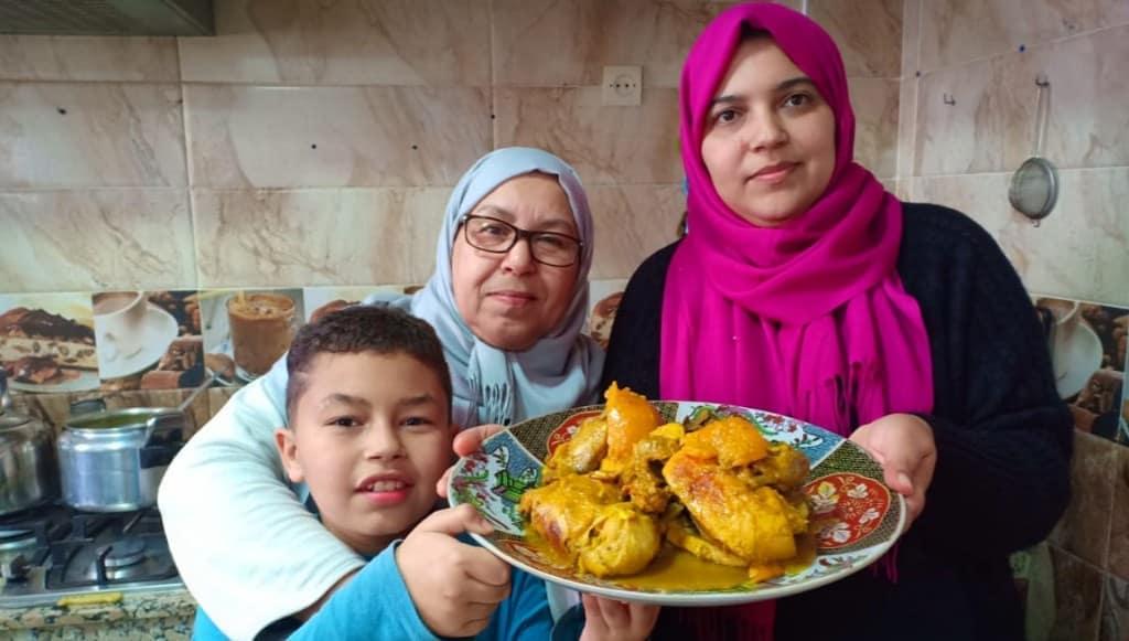 وجبة غداء بطنجية الدجاج العجييييبة كطيب بكاس الماء في مدة ساعة